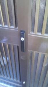 KABA 引き戸鍵交換2